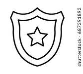 shield star  | Shutterstock .eps vector #687291892