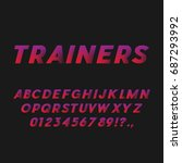 sport style bold italic font.... | Shutterstock .eps vector #687293992