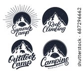 set of camping  summer camp ... | Shutterstock . vector #687296662