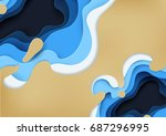 ocean wave abstract background... | Shutterstock .eps vector #687296995