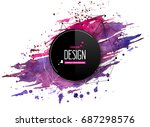 pink purple abstract aquarelle... | Shutterstock .eps vector #687298576