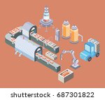 automated production line....   Shutterstock .eps vector #687301822
