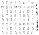 packaging  icons set. for... | Shutterstock .eps vector #687319132