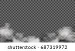 realistic smoke on transparent... | Shutterstock .eps vector #687319972