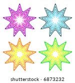retro vector colorful stars | Shutterstock .eps vector #6873232