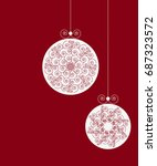 merry christmas ornaments.... | Shutterstock . vector #687323572