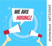 we are hiring banner. join our... | Shutterstock .eps vector #687325045