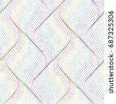 abstract vector pattern | Shutterstock .eps vector #687325306