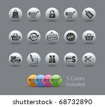 shopping icons    pearly series ... | Shutterstock .eps vector #68732890