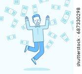 vector illustration in trendy... | Shutterstock .eps vector #687330298