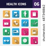 medical vector colorful flat... | Shutterstock .eps vector #687348862