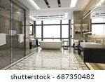3d rendering modern loft... | Shutterstock . vector #687350482