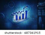 3d rendering stock market... | Shutterstock . vector #687361915