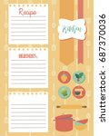 vector template of recipe card. ... | Shutterstock .eps vector #687370036