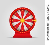 roulette  wheel of fortune icon.... | Shutterstock .eps vector #687371242