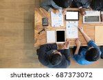 young business people and...   Shutterstock . vector #687373072