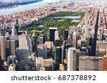 aerial view of midtown... | Shutterstock . vector #687378892