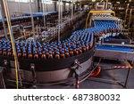conveyor belt with plastic...   Shutterstock . vector #687380032