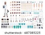 doctor character constructor.... | Shutterstock .eps vector #687385225