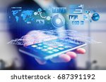 view of a business stats... | Shutterstock . vector #687391192