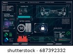 futuristic user interface for...   Shutterstock .eps vector #687392332