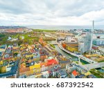 aerial malmo city view from... | Shutterstock . vector #687392542