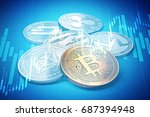 cryptocurrencies success graphs ... | Shutterstock . vector #687394948