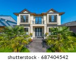 big custom made luxury house... | Shutterstock . vector #687404542