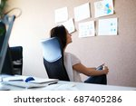 business situations. people in... | Shutterstock . vector #687405286
