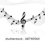 vector musical notes staff... | Shutterstock .eps vector #68740564