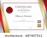 luxury certificate template... | Shutterstock .eps vector #687407512