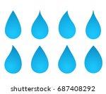 icons set of blue water drop...   Shutterstock . vector #687408292