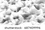 abstract triangle black and... | Shutterstock . vector #687409996