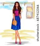 vector design of modern stylish ... | Shutterstock .eps vector #687412366