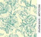 seamless floral pattern | Shutterstock .eps vector #68741266