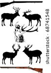 silhouettes of deer of... | Shutterstock .eps vector #68741548
