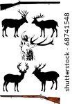 silhouettes of deer of... | Shutterstock .eps vector #68741548