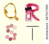 vector cosmetics alphabet | Shutterstock .eps vector #687417385