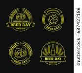 international beer day  beer... | Shutterstock .eps vector #687427186