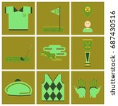 set of icons in flat design... | Shutterstock .eps vector #687430516
