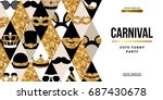 carnival party creative gold...   Shutterstock .eps vector #687430678