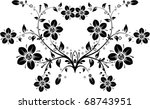 floral background  vector... | Shutterstock .eps vector #68743951