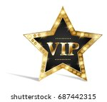 vip star with gold elements | Shutterstock . vector #687442315