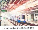 high speed rail travel is quick ...   Shutterstock . vector #687452122