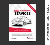automotive services layout... | Shutterstock .eps vector #687452272