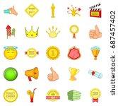 grant icons set. cartoon set of ... | Shutterstock .eps vector #687457402