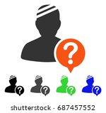 patient status flat vector... | Shutterstock .eps vector #687457552