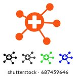 medical links flat vector... | Shutterstock .eps vector #687459646