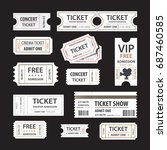 old cinema tickets for cinema.... | Shutterstock .eps vector #687460585