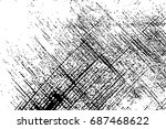 grunge lines texture   abstract ... | Shutterstock .eps vector #687468622
